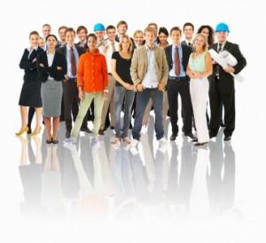 muchas personas en sus roles profesionales
